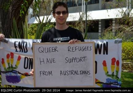 Nick's message of support queer refugees