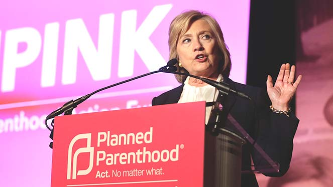 Clinto speaking at Planned Parenthood