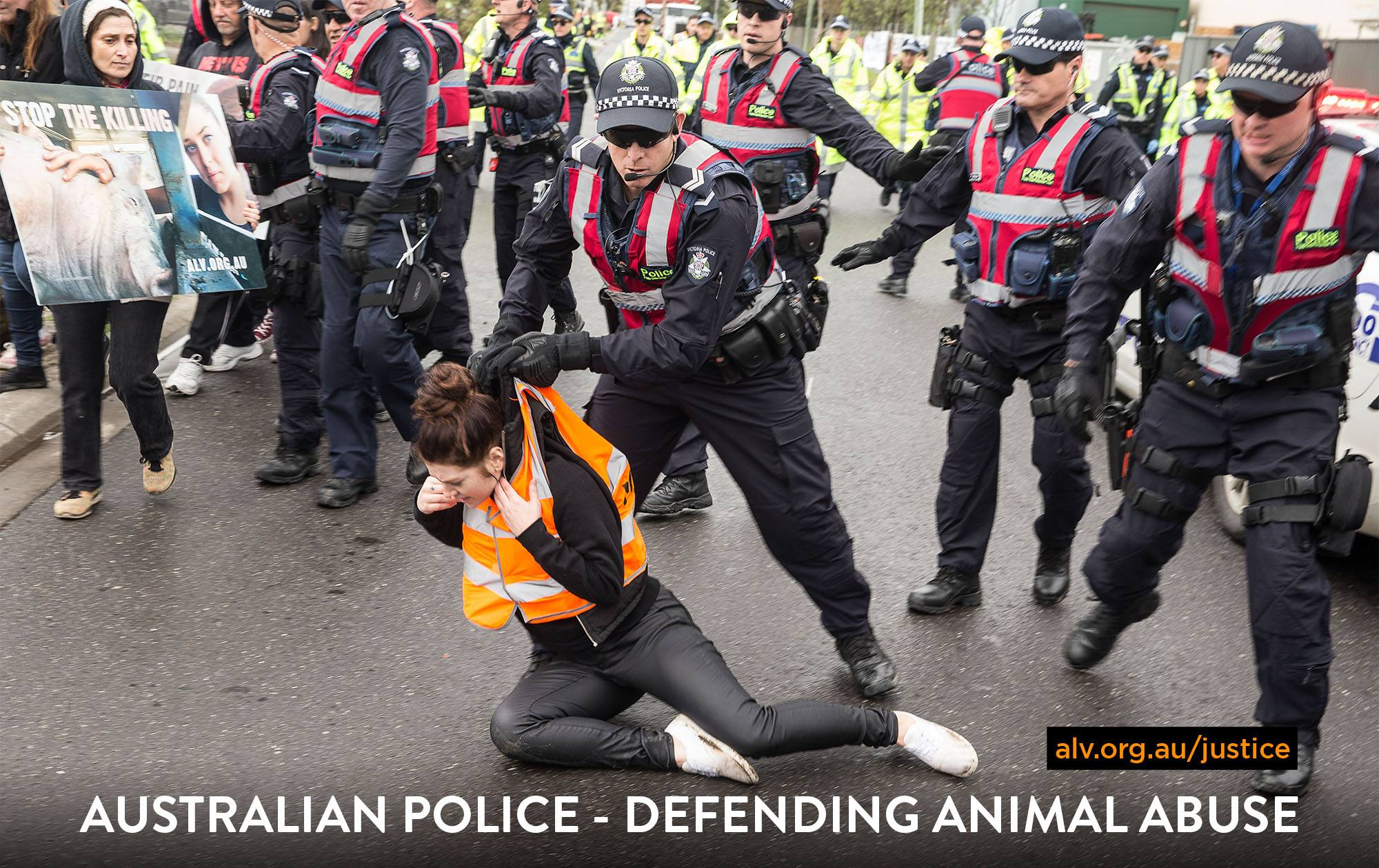 Aus police, defending animal abuse