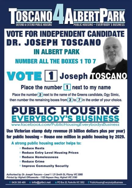 Joe for Albert Park