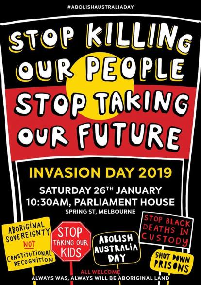 invasion day 2019 narrm melbourne